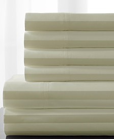 Delray Woven Stripe Bonus Cotton Blend 600 thread count Full Sheet Set