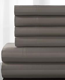 Delray Woven Stripe Bonus Cotton Blend 600 thread count King Sheet Set