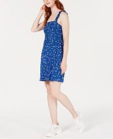 Smocked Floral-Print A-Line Dress