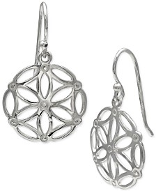 Giani Bernini Filigree Open Circle Drop Earrings in Sterling Silver, Created for Macy's
