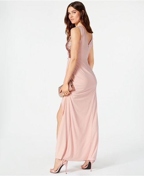 3086c594 Vince Camuto Sequined Surplice Gown & Reviews - Dresses - Women - Macy's