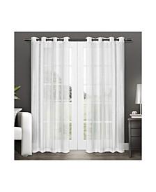 Penny Sheer Grommet Top Curtain Panel Pair