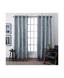 Exclusive Home Finesse Grommet Top Curtain Panel Pair