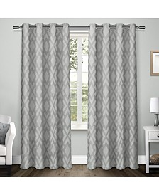 Exclusive Home Easton Jacquard Blackout Grommet Top Curtain Panel Pair
