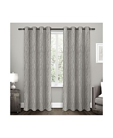 Exclusive Home Forest Hill Woven Blackout Grommet Top Curtain Panel Pair