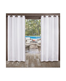 Exclusive Home Miami Indoor Outdoor Textured Grommet Top Curtain Panel Pair