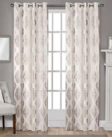 "Exclusive Home Augustus Metallic Light Filtering Grommet Top 54"" X 84"" Curtain Panel Pair"