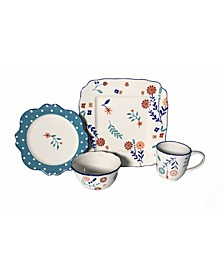 Blossoming Floral 16 Piece Dinnerware Set