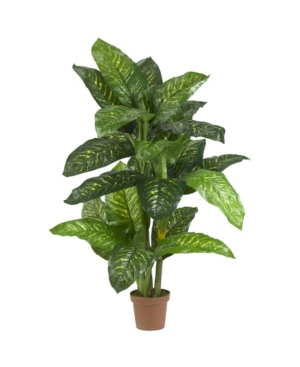 Nearly Natural 5' Dieffenbachia Silk Plant - Real Touch