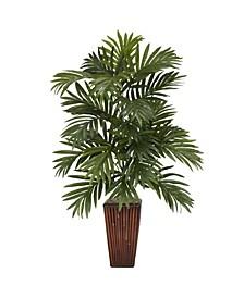 Areca Palm w/ Bamboo Vase Silk Plant