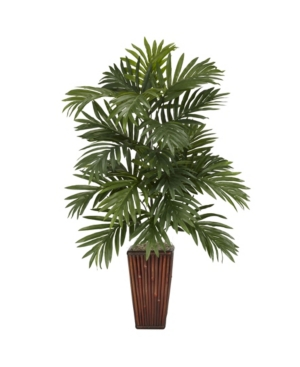 Nearly Natural Areca Palm w/ Bamboo Vase Silk Plant