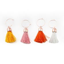 Thirstystone Congo Sunset Tassel Wine Charms, Set of 4