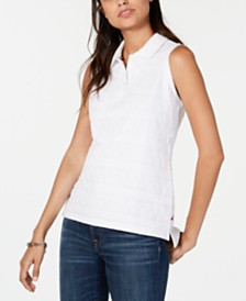 Tommy Hilfiger Eyelet Polo Top