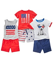 9496df185 First Impressions Baby Boys Red, White & Blue Mix & Match Separates,  Created for