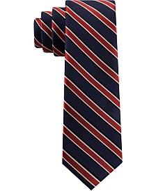 Tommy Hilfiger Toddler & Little Boys Red Stripe Silk Tie