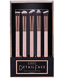 LUXIE 5-Pc. Rose Gold Detail Face Brush Set