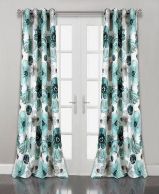 """Leah Floral 52"""" x 108"""" Curtain Set"""