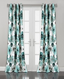 "Leah Floral 52"" x 108"" Curtain Set"