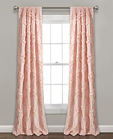 "Ruffle Diamond 54"" x 84"" Curtain Set"