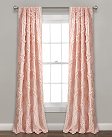 "Ruffle Diamond Window Curtain Panel Set, 54""x84"""