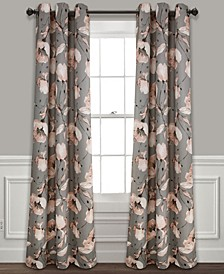 """Delsey Floral Absolute Blackout 38"""" x 84"""" Curtain Set"""