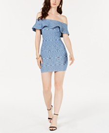 2a79c7552f3 GUESS Audrey Off-The-Shoulder Sweater Dress