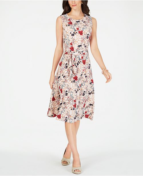 68f11df2ad ... Charter Club Printed Midi Dress