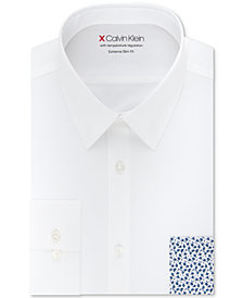 Calvin Klein X Men's Extra-Slim Fit Temperature Regulating Stretch Solid Dress Shirt