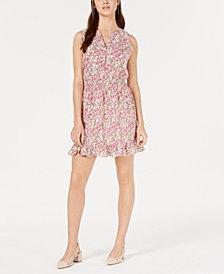 Maison Jules Ruffle-Hem Fit & Flare Dress, Created for Macy's