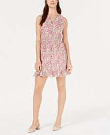 Maison Jules Ruffle-Hem Fit & Flare Dress, Created for Macy's