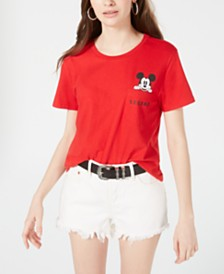 Disney Juniors' Mickey Mouse Graphic Pocket T-Shirt by Freeze 24-7