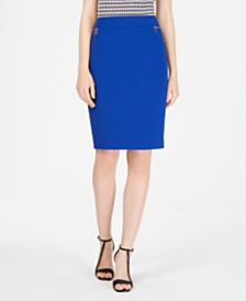 Calvin Klein Petite Zip-Pocket Pencil Skirt