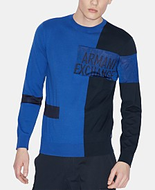 A|X Armani Exchange Men's Colorblocked Logo Sweater