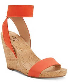 I.N.C. Leanira Stretchy Ankle-Strap Wedge Sandals, Created for Macy's