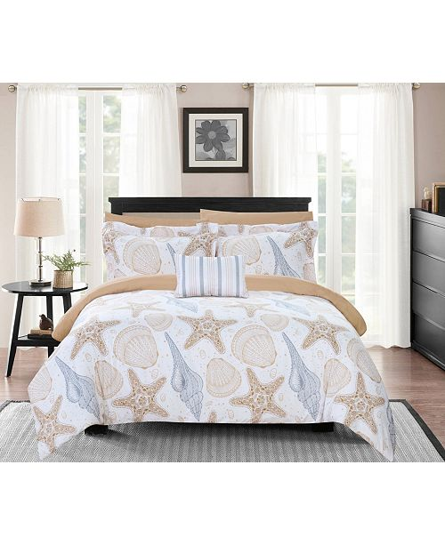 Aquatic 8 Piece King Bed In a Bag Comforter Set
