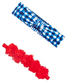 First Impressions Baby Girls 2-Pack Headband Set, Created for Macy's