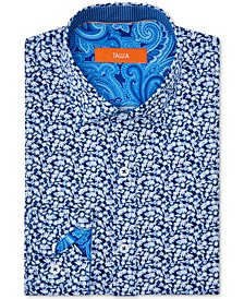 Orange Men's Slim-Fit Performance Stretch Floral Dress Shirt