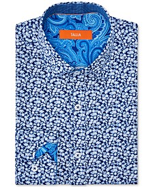 Tallia Orange Men's Slim-Fit Performance Stretch Floral Dress Shirt
