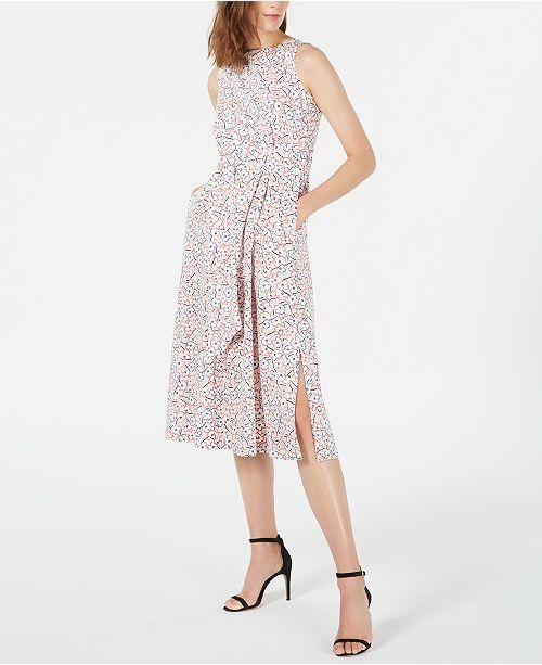 Anne Klein Floral Midi Dress