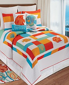 South Seas Full Queen 3 Piece Quilt