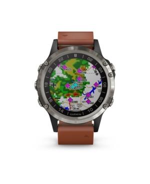 Garmin Watches D2 DELTA PREMIUM GPS AVIATOR WATCH IN BROWN