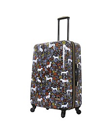"Halinavicky Yorke Urban Jungle Dogs 28"" Hard Side Spinner Suitcase"