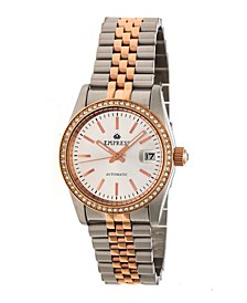 Constance Automatic Rose Gold Case, White Dial, Silver Stainless Steel Watch 37mm