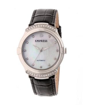 Francesca Automatic Black Leather Watch 35mm