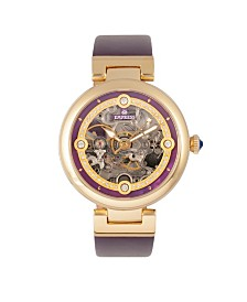 Empress Adelaide Automatic Purple Leather Watch 38mm