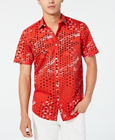I.N.C. Men's Abstract Dot-Print Shirt, Created for Macy's