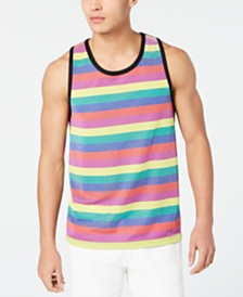 I.N.C. Men's Pride Stripe Tank Top, Created for Macy's