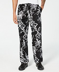 INC Men's Abstract Floral Drawstring Pants, Created for Macy's