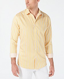 INC Men's Vertical Striped Shirt, Created for Macy's