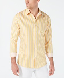 I.N.C. Men's Vertical Striped Shirt, Created for Macy's
